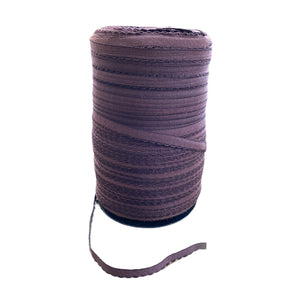 10mm Brown Decorative Edged Elastic