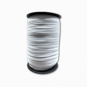 6mm White Woven Elastic | Discount Fabric Online Australia