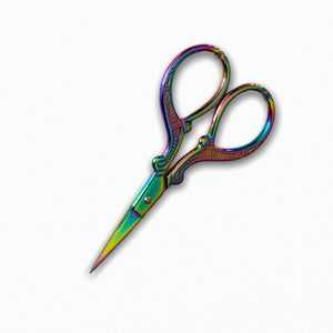 Stainless Steel Embroidery Sewing Craft Scissors - Rainbow