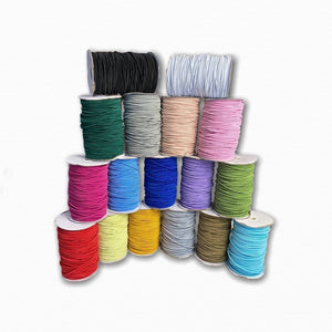 3mm Coloured Round Cord Elastic (Metre)