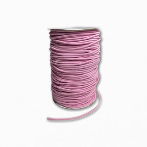 3mm Light Pink Round Cord Elastic - Roll 100 Metres