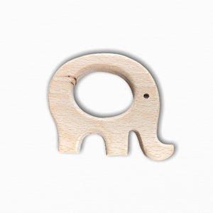 Wooden Elephant Teether Ring