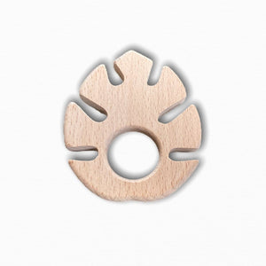 Wooden Monstera Leave Teether Ring