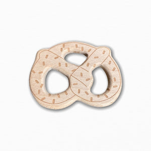 Wooden Pretzel Teether Ring