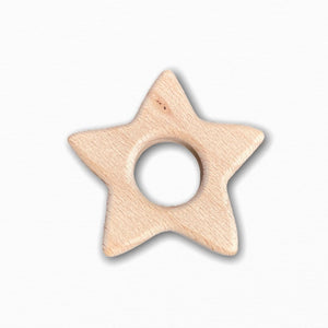 Wooden Star Teether Ring