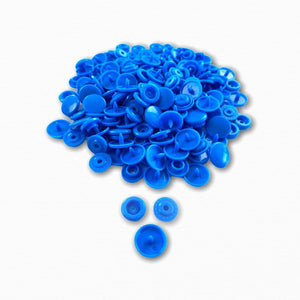 KAM Snap Fastener Buttons - Mid Blue | Children's Fabric Online Australia