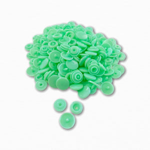 KAM Snap Fastener Buttons - Mint Green | Buy Fabric Online Australia