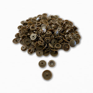 KAM Snap Fastener Buttons - Brown | Order Fabric Online Australia