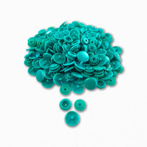 KAM Snap Fastener Buttons - Jade Green | Knit Fabric Online Australia