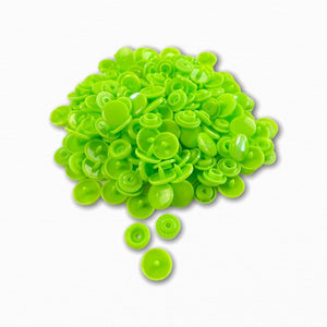 KAM Snap Fastener Buttons - Lime Green | Order Fabric Online Australia