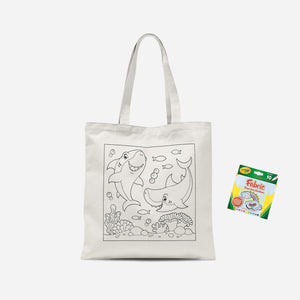 Colour Me In Sharks Tote Bag And Marker Set