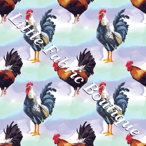 Watercolour Roosters