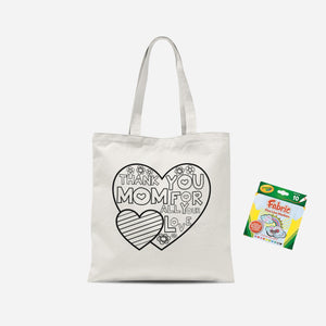 Colour Me In Thank You Mom Tote Bag And Marker Set