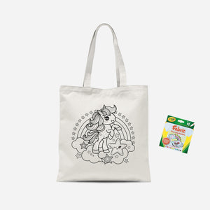 Colour Me In Unicorn  Tote Bag And Marker Set