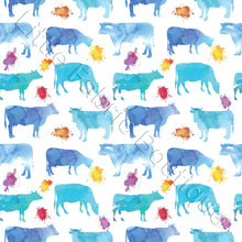 Pre-Order Watercolour Cows Blue White