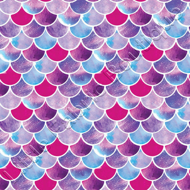 Watercolour Mermaid Scales - PUL