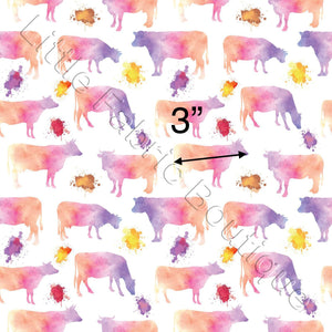 Pre-Order Watercolour Cows Pink White