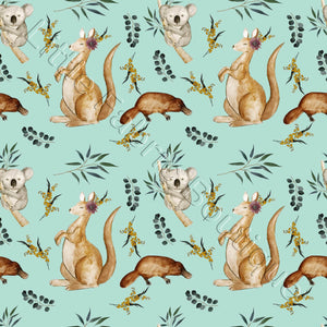 Aussie Animals - Woven Cotton