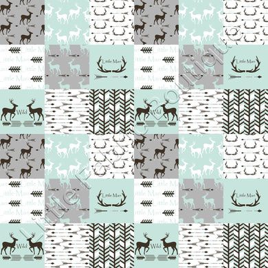 LFB Wild Little Man Deers and Antlers Patchwork