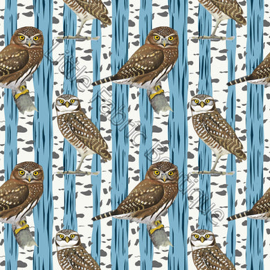 Woodland Owls - Knit 220gsm