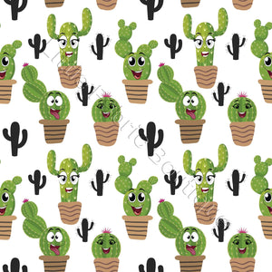 Cacti Faces - Woven Cotton