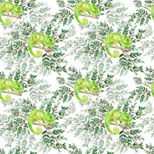 Green Chameleon - Cotton Twill