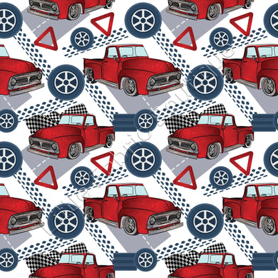 Red Utes - Woven Cotton