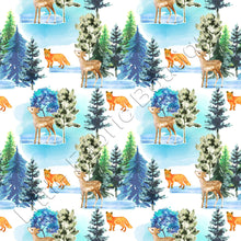 Pre-Order Winter Forest Deers and Foxes