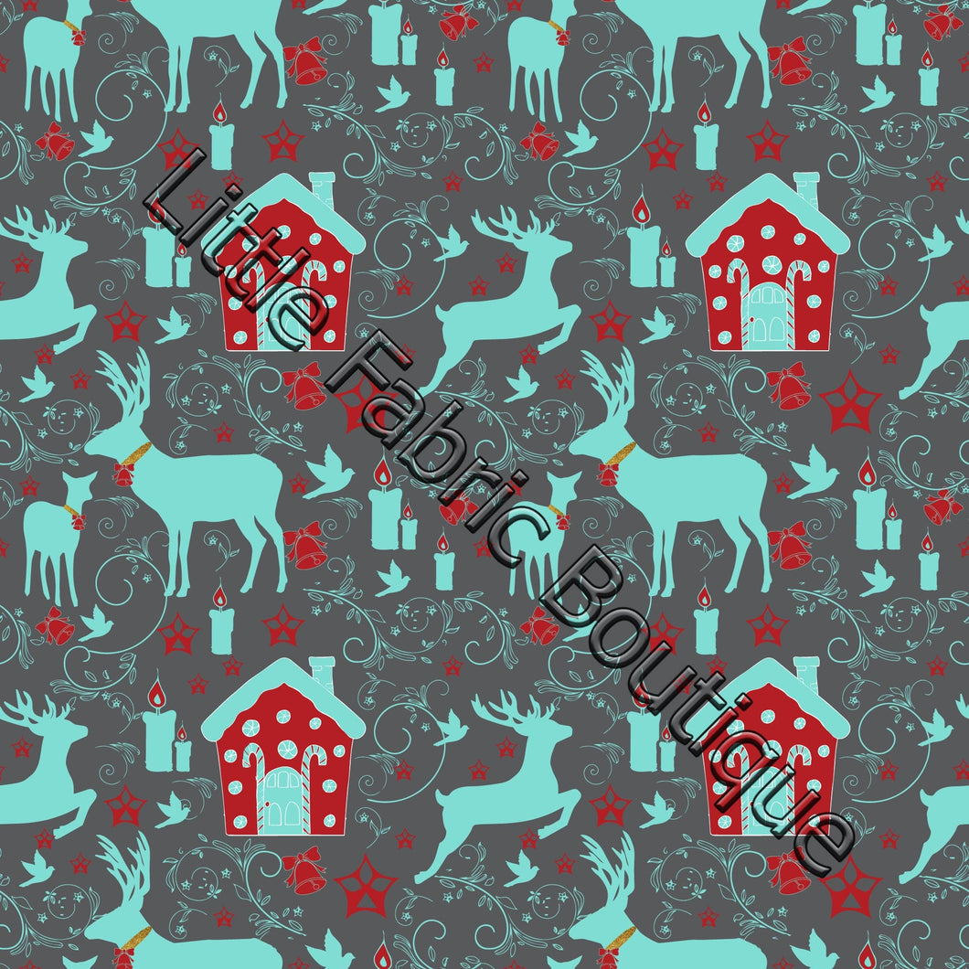LFB Holiday Reindeers Charcoal