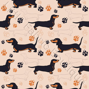Sausage Dog - Woven Cotton