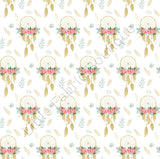 Golden Floral Dreamcatchers - Muslin