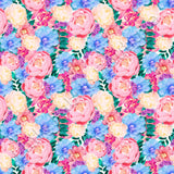 Vibrant Watercolour Peonies - Woven Cotton