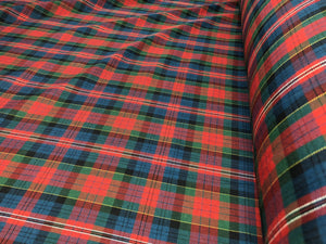 Red Tartan Plaid 100% Wool
