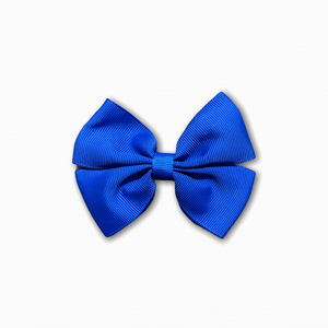 Grosgrain Pinwheel Dark Blue Bow | Buy Quality Fabric Online Australia