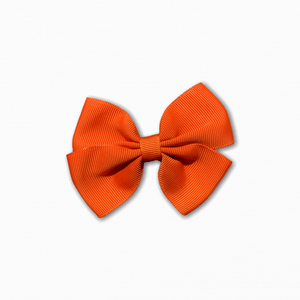 Grosgrain Pinwheel Orange Bow | Online Fabric Store Australia
