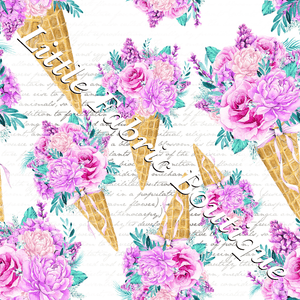 Ice Cream Bouquet Script - Cotton Twill