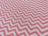 Pink And White Chevron