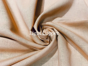 Pre-Order Light Copper Cotton Linen Blend #46