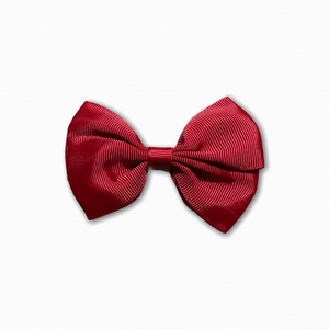 Grosgrain Pinwheel Burgundy Bow | Buy Fabric Online Cheap Australia