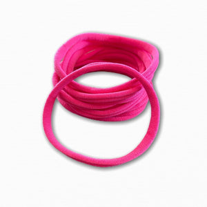 Hot Pink Stretchy Soft Baby Headbands | Order Fabric Online Australia