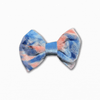 Velvet Tie Die Blue Orange Bow