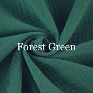 Forest Green Double Gauze