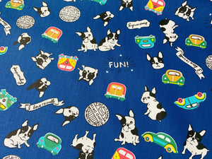 Fun French Bulldogs | Children's Fabric Online Australia