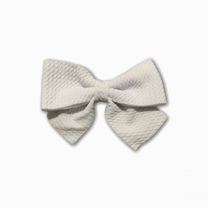 Bullet Fabric Solid White Bow | Online Fabric Shopping Australia