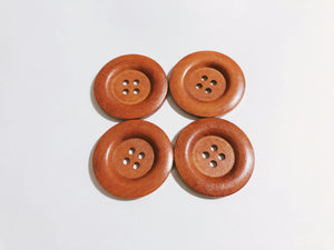 40mm Big Wooden 4 Hole Buttons