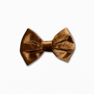 Velvet Solid Brown Bow