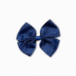 Grosgrain Pinwheel Navy Bow | Buy Quality Fabric Online Australia