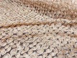 Small Beige 3D Rose Blossom Lace Fabric