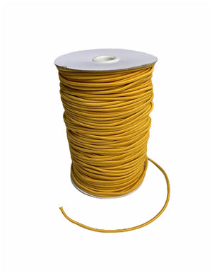 3mm Gold Round Cord Elastic - Roll 100 Metres