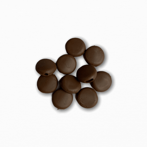 Silicone Beads - Brown (10 pack)
